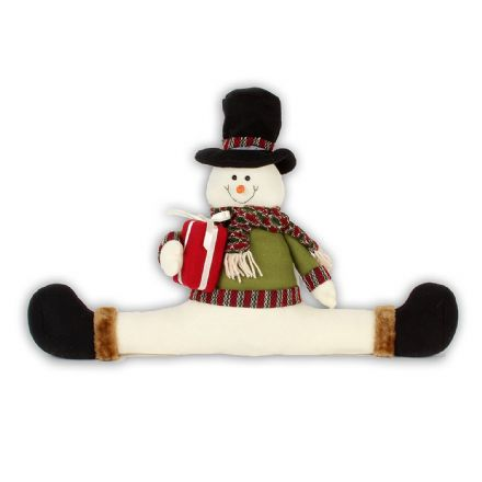Sitting Snowman Christmas Draught Excluder